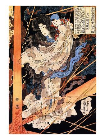 kuniyoshi-utagawa-fusehime-saving-inue-shimbyoe-masahi-from-a-thunderboit