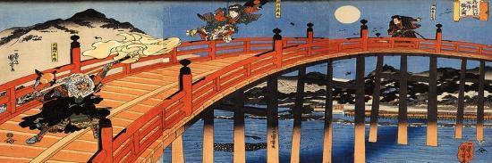 kuniyoshi-utagawa-the-moonlight-fight-between-yoshitsune-and-benkei-on-the-gojobashi