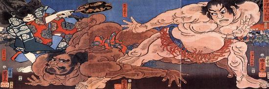 kuniyoshi-utagawa-wrestling-sumo