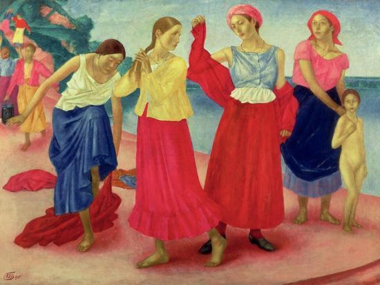 kuzma-sergievitch-petrov-vodkin-young-women-on-the-volga-1915