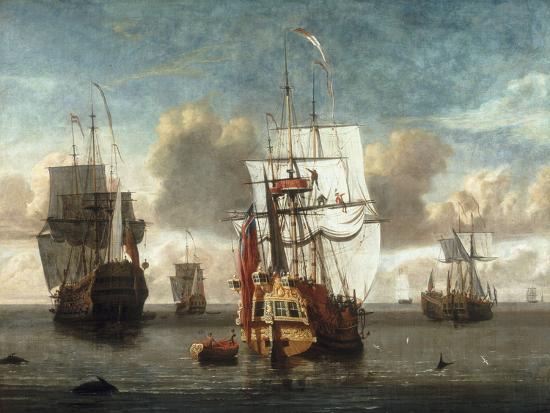 l-deman-a-calm-with-british-shipping-at-anchor