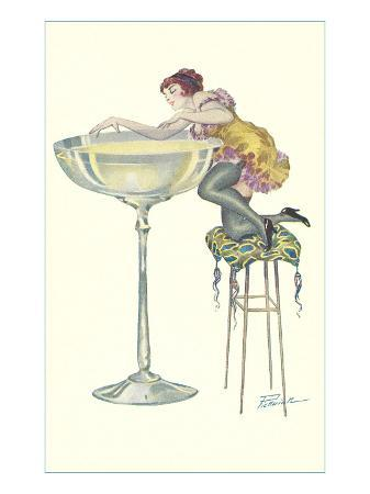 lady-climbing-into-champagne-glass