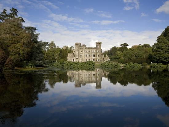 lake-and-19th-century-gothic-revival-johnstown-castle-co-wexford-ireland