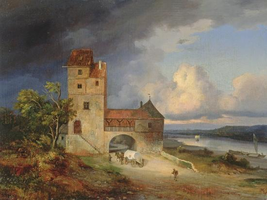 landscape-by-the-river-with-the-tower-and-gateway-1844