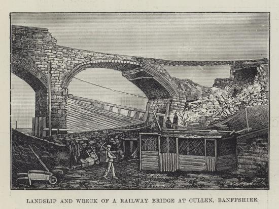 landslip-and-wreck-of-a-railway-bridge-at-cullen-banffshire