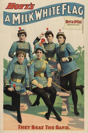 lantern-press-a-milk-white-flag-woman-s-marching-band-poster