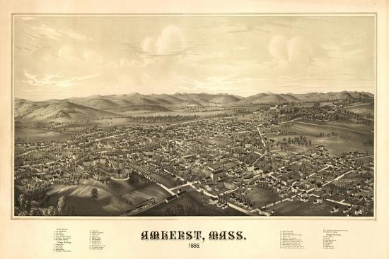 lantern-press-amherst-massachusetts-panoramic-map