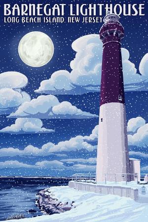 lantern-press-barnegat-lighthouse-snow-scene-new-jersey-shore