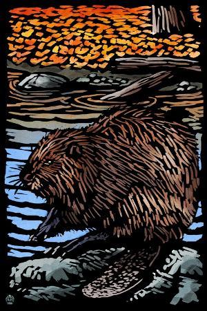 lantern-press-beaver-scratchboard