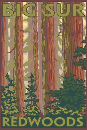 lantern-press-big-sur-california-redwoods