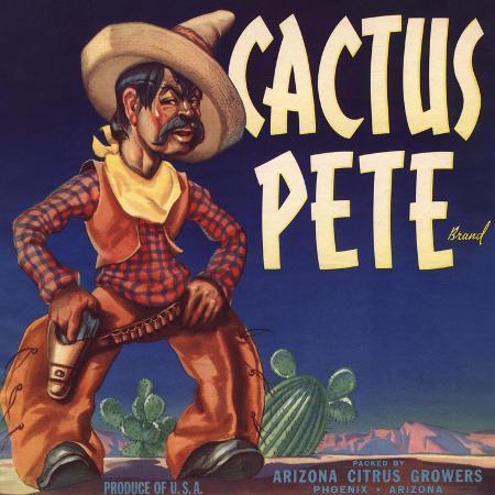 lantern-press-cactus-pete-brand-phoenix-arizona-citrus-crate-label