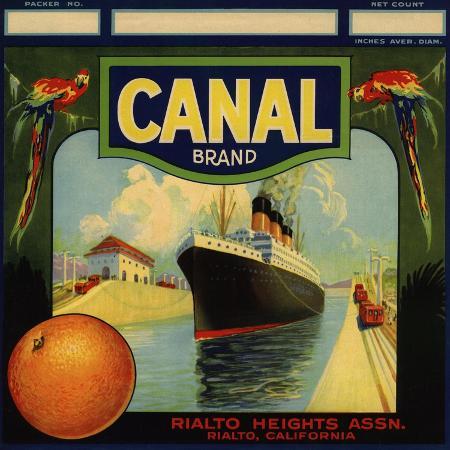 lantern-press-canal-brand-rialto-california-citrus-crate-label