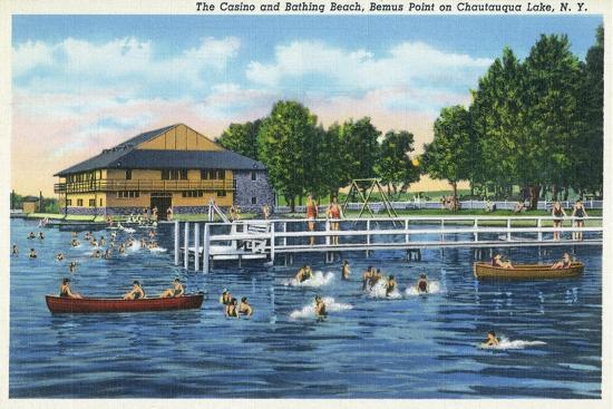 lantern-press-chautauqua-lake-new-york-bemus-point-view-of-casino-and-beach