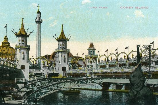 lantern-press-coney-island-new-york-luna-park-scene
