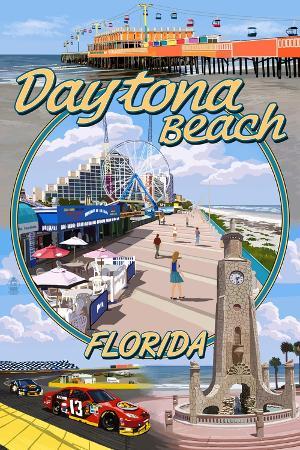 lantern-press-daytona-beach-fl-daytona-beach-montage