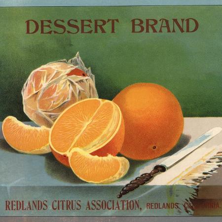 lantern-press-dessert-brand-redlands-california-citrus-crate-label