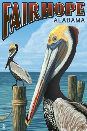 lantern-press-fairhope-alabama-pelican-scene