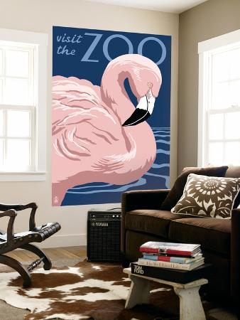 lantern-press-flamingo-visit-the-zoo