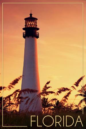 lantern-press-florida-lighthouse-and-seagrass