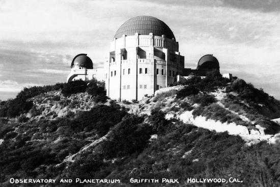 lantern-press-hollywood-california-griffith-park-observatory-and-planetarium