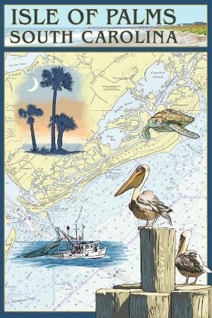 lantern-press-isle-of-palms-south-carolina-nautical-chart