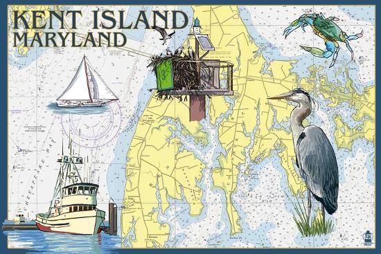 lantern-press-kent-island-maryland-nautical-chart
