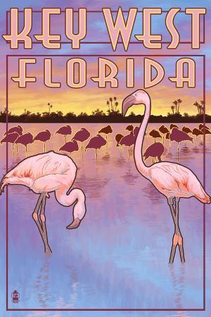 lantern-press-key-west-florida-flamingos