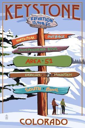lantern-press-keystone-colorado-ski-signpost