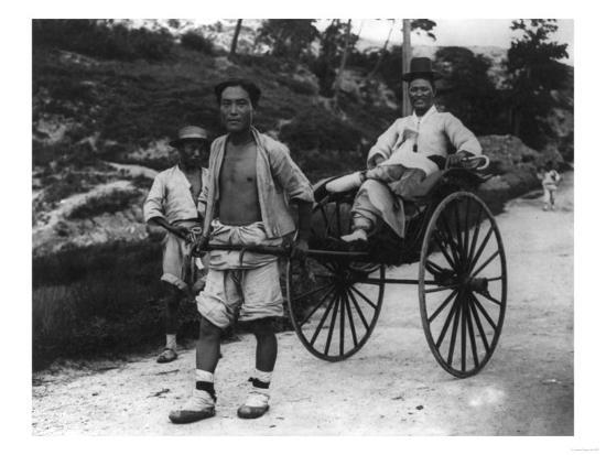 lantern-press-korean-aristocrat-riding-in-a-rickshaw-photograph-korea