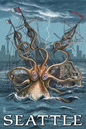 lantern-press-kraken-attacking-ship-seattle