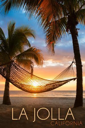 lantern-press-la-jolla-california-hammock-and-sunset