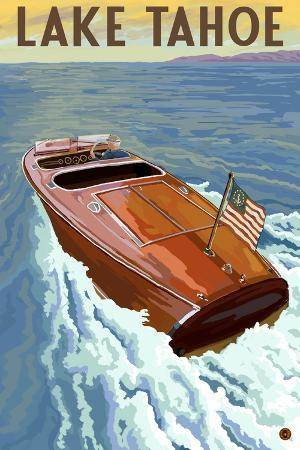 lantern-press-lake-tahoe-california-wooden-boat