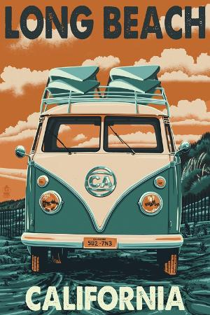lantern-press-long-beach-california-vw-van