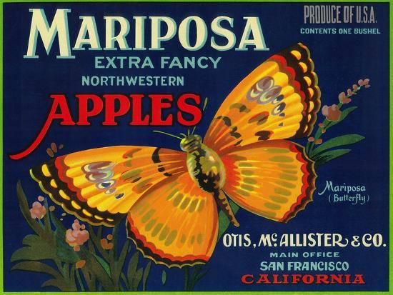 lantern-press-mariposa-apple-label-san-francisco-ca
