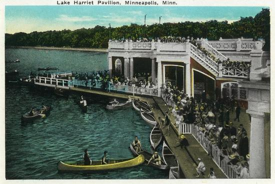 lantern-press-minneapolis-minnesota-view-of-lake-harriet-pavilion
