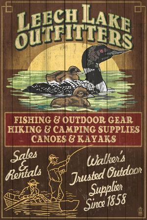 lantern-press-minnesota-leech-lake-outfitters-loon