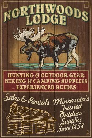 lantern-press-minnesota-moose-northwoods-lodge