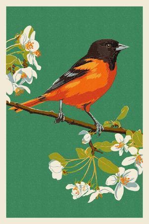lantern-press-oriole-and-blossoms