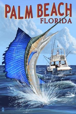 lantern-press-palm-beach-florida-sailfish-scene