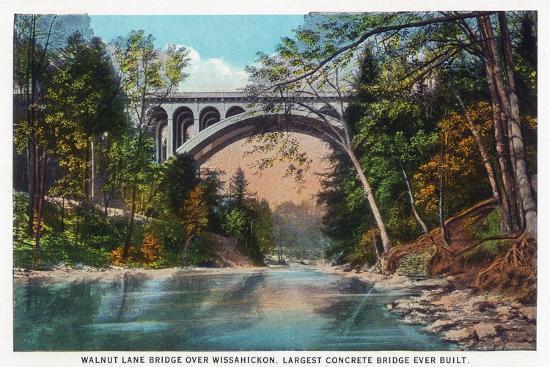 lantern-press-philadelphia-pennsylvania-walnut-lane-bridge-over-wissahickon-river