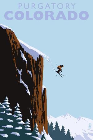 lantern-press-purgatory-colorado-skier-jumping