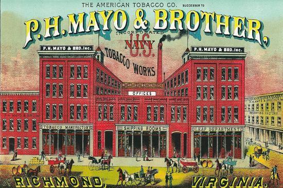 lantern-press-richmond-virginia-p-h-mayo-and-brother-us-navy-brand-tobacco-label