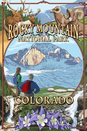 lantern-press-rocky-mountain-national-park-colorado-montage