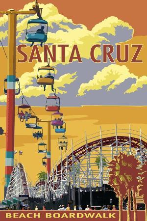 lantern-press-santa-cruz-california-beach-boardwalk