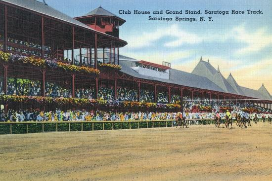 lantern-press-saratoga-springs-new-york-racetrack-view-of-clubhouse-band-stand