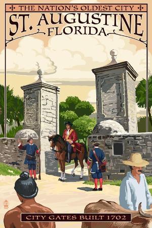 lantern-press-st-augustine-florida-city-gates