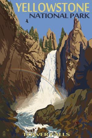 lantern-press-tower-falls-yellowstone-national-park