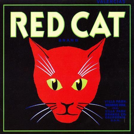 lantern-press-villa-park-california-red-cat-brand-citrus-label