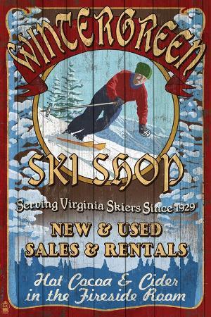 lantern-press-wintergreen-virginia-ski-shop