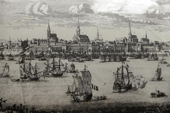 latvia-riga-port-engraving